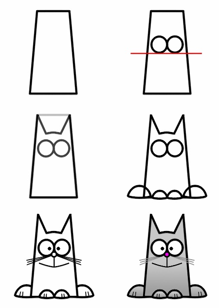 draw a funny cat