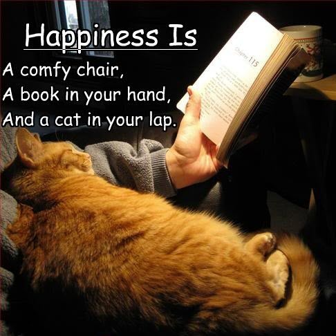 happines with a cat