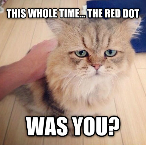 the red dot wasy you