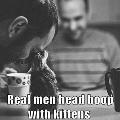 real men head boop